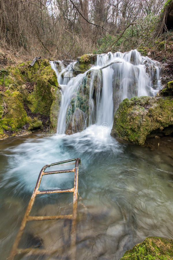 Deep forest Waterfall near village of Bachkovo, Bulgaria. Deep forest Waterfall near village of Bachkovo, Plovdiv region, Bulgaria stock image