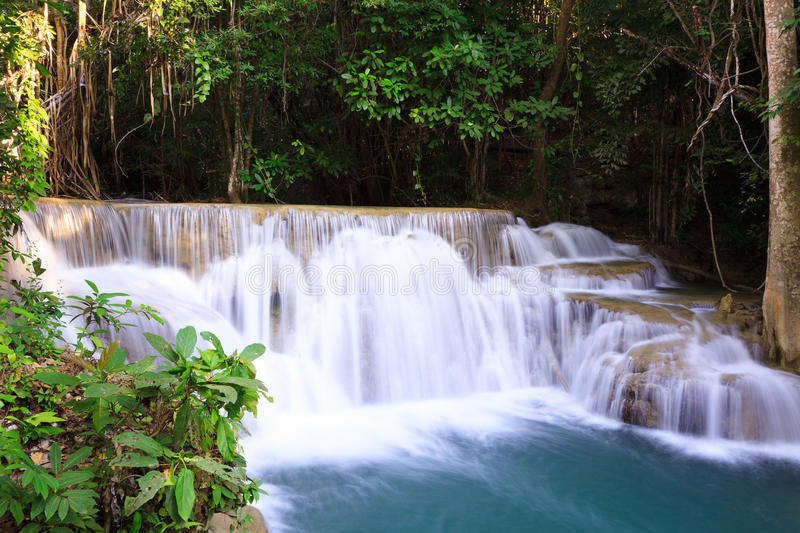 Download Deep Forest Waterfall In Thailand Stock Photo - Image of fresh, flowing: 29117728