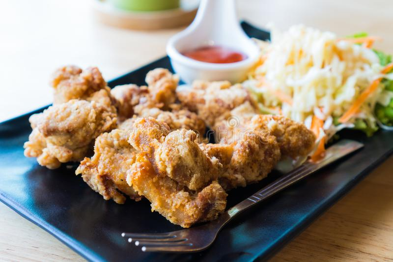 Deep Fried Chicken Nuggets, Japanese Fried Chicken. royalty free stock photo
