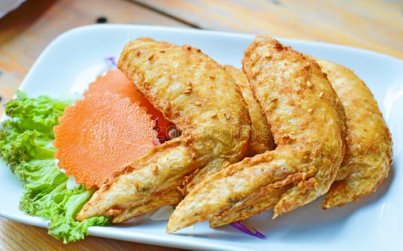 Deep-fried chicken wings. Thai name is Peek Khai Thod royalty free stock image