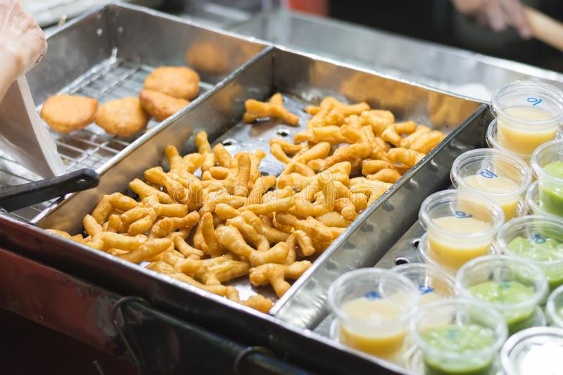 Deep-Fried Chinese Donut Sticks (Youtiao or Pa Tong Go). royalty free stock photo
