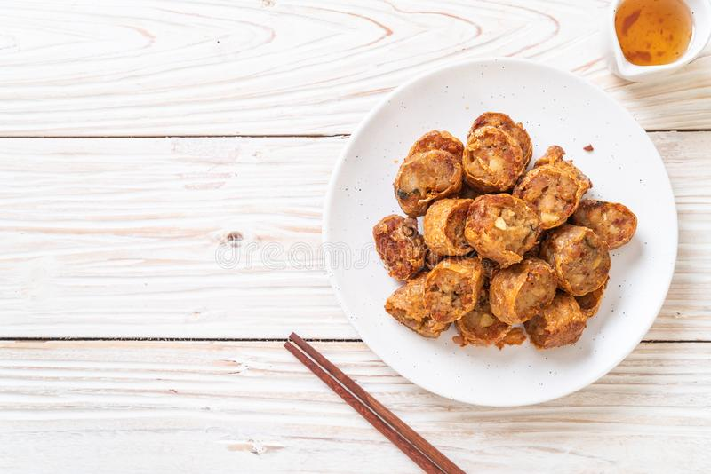 Deep Fried Crab Roll. Deep Fried Crab Meat Rolls - Chinese food style stock photo