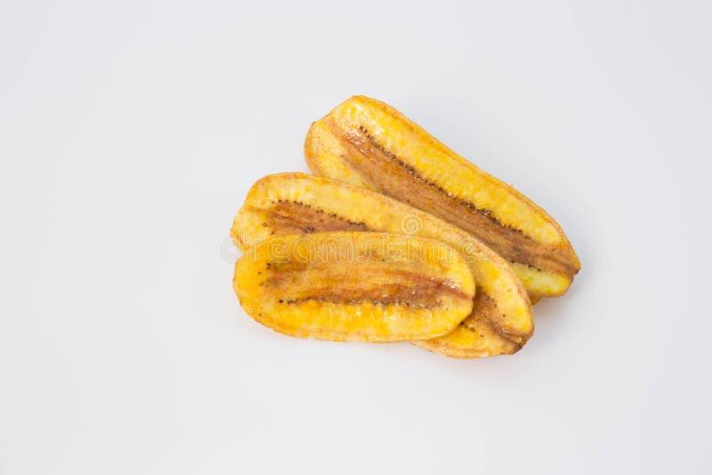 Deep fried ha affettato la banana fotografia stock libera da diritti