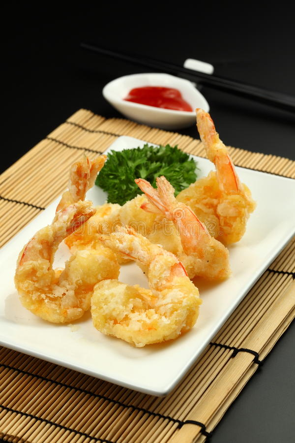 Deep Fried Prawn royalty free stock images