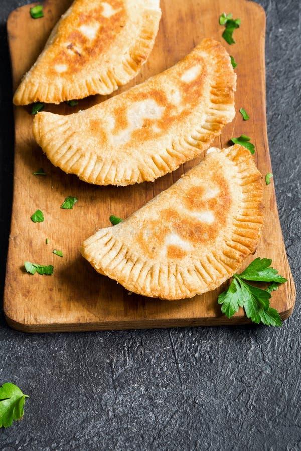Deep fried samosas royalty free stock images