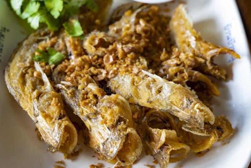 "Deep fried Thai style Sheatfish Fried ""Par Nae On"" stock photography"