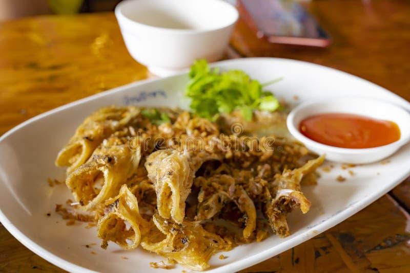 "Deep fried Thai style Sheatfish Fried ""Par Nae On"" stock photos"