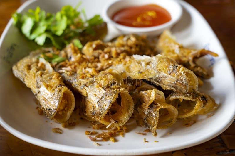 """Deep fried Thai style Sheatfish Fried """"Par Nae On"""" stock images"""