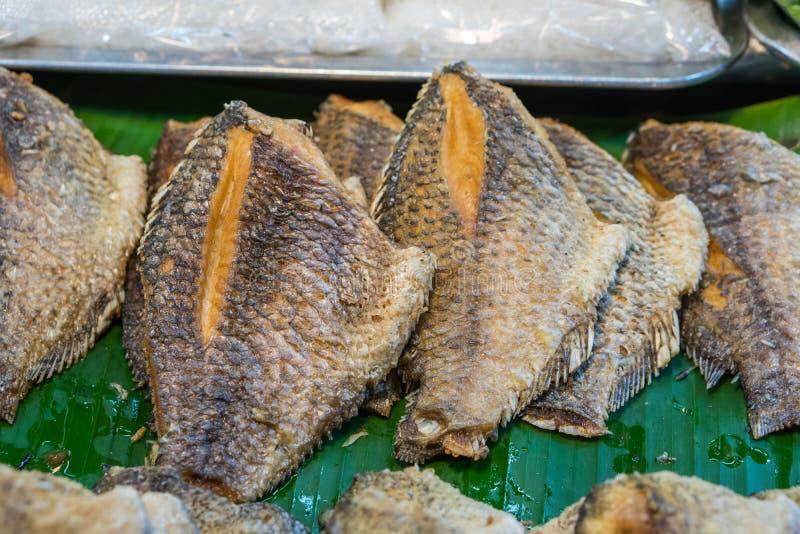 Deep fried Tilapia and Carp royalty free stock images