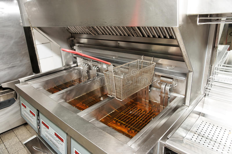 Download Deep fryer with oil stock image. Image of catering, friture - 19942773