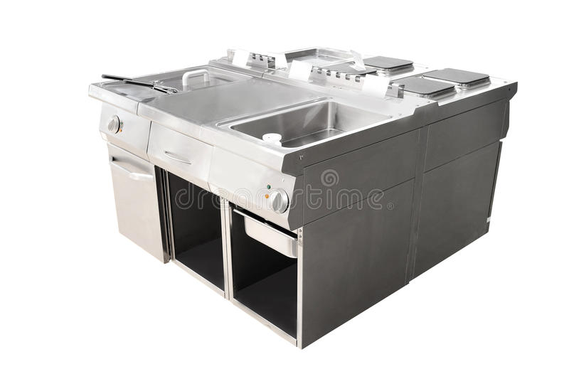 Deep fryer and restaurant stove stock photos
