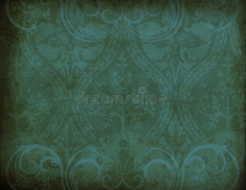 Deep Green Symbol. A multi-layered, rich textured background for scrapbooking and design royalty free stock images