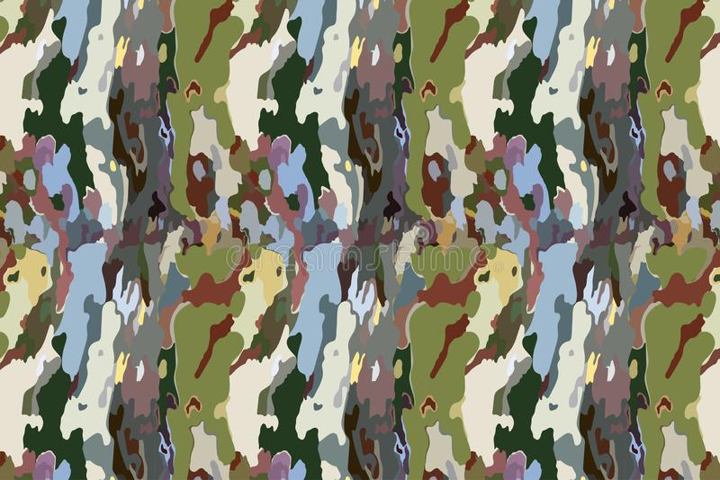 Deep Jungle Army Military Camouflage Pattern Fabric Texture Background. Deep Jungle Army Military Foliage Camouflage Pattern Fabric Texture Background vector illustration