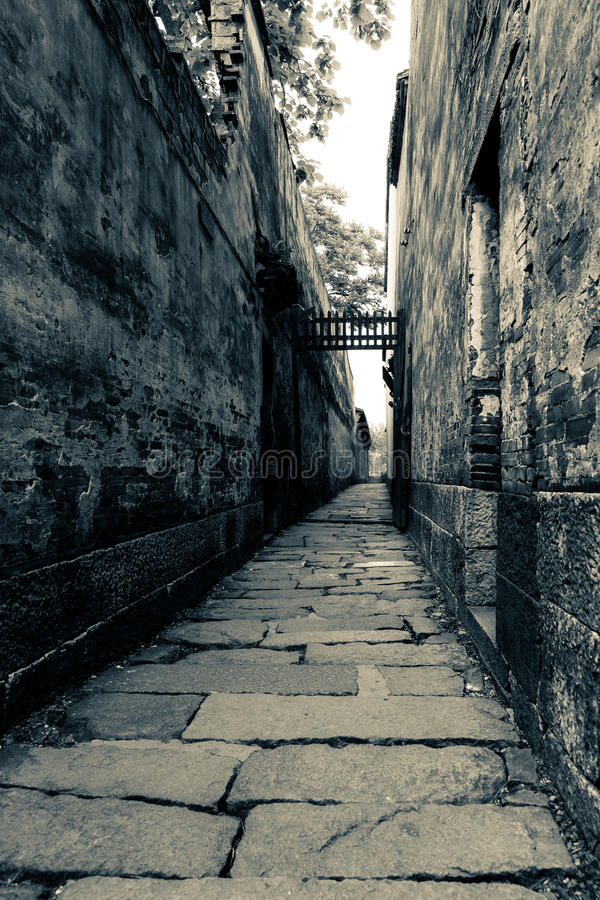 Deep lane. A lane so deeper at the WuZhen town royalty free stock photo