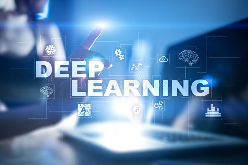 Deep machine learning, artificial intelligence in smart factory or technology solution. royalty free stock photos