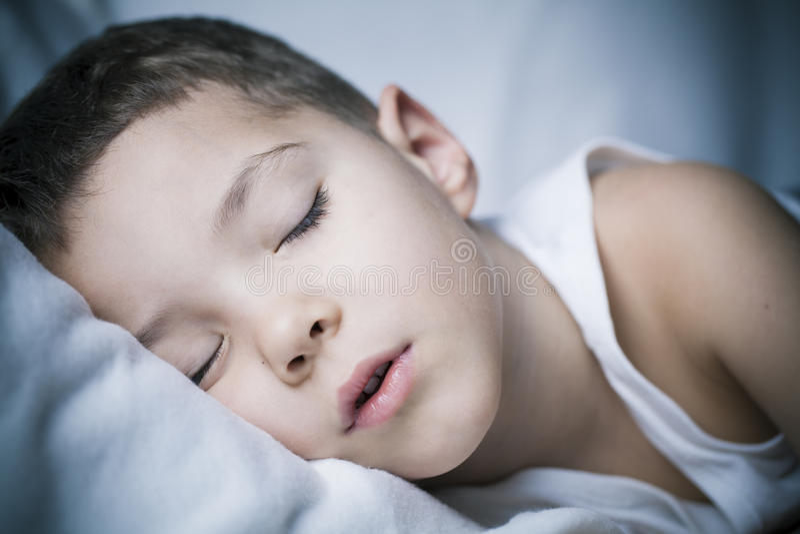 Deep night sleep stock image