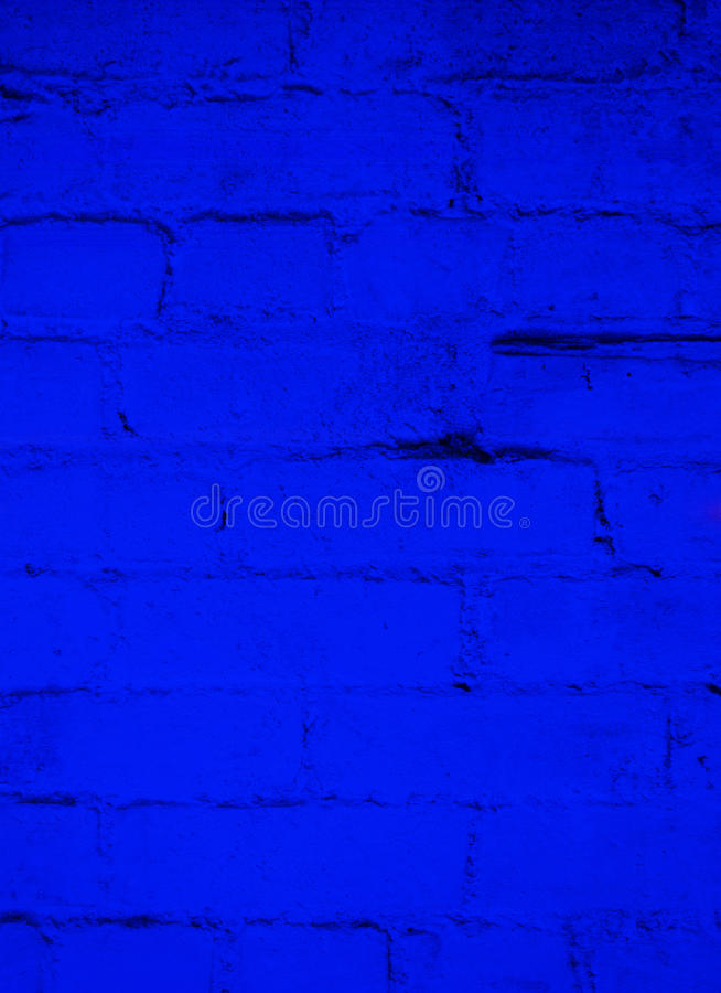 Deep Ocean Blue Brick Background royalty free stock images