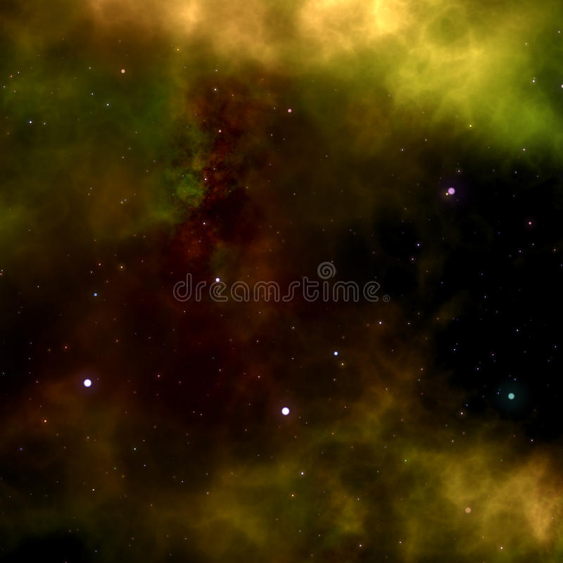 Deep outer space gas cloud nebula royalty free illustration