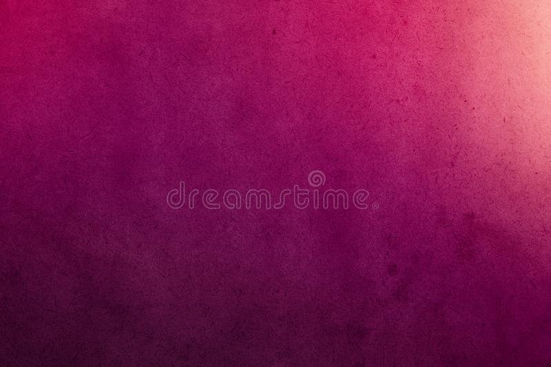 Deep pink gradient watercolor paint on old paper with grain smudge dirty texture. Abstract for stock photo