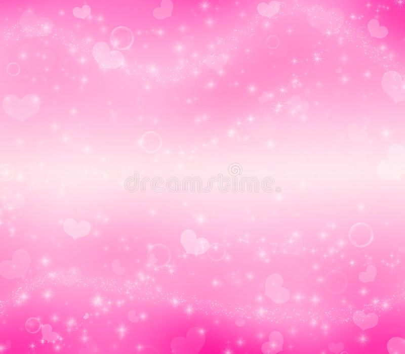 Deep pink Valentine`s Day magic background. stock photography