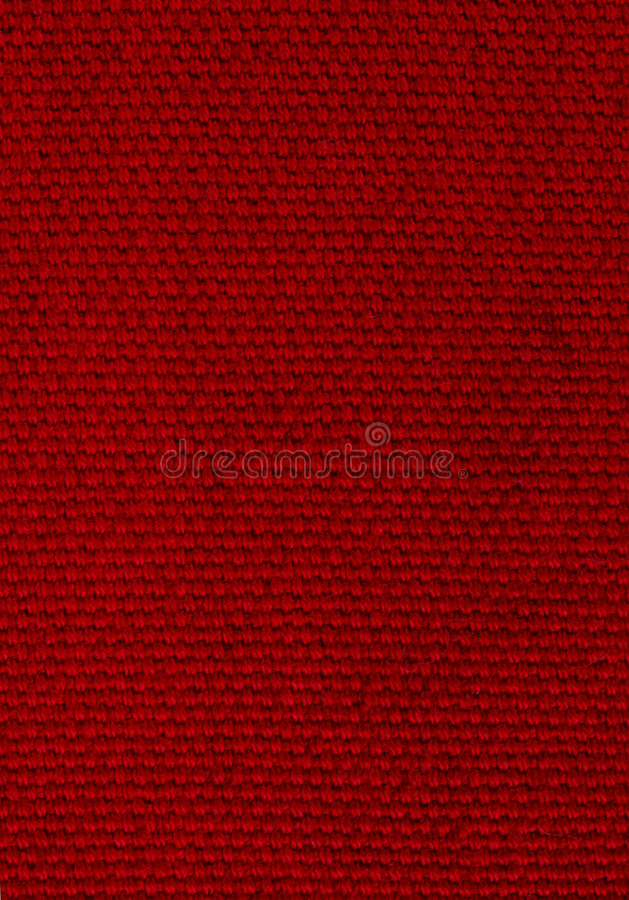 Deep Red Background Of Woven Fabric Royalty Free Stock Photo