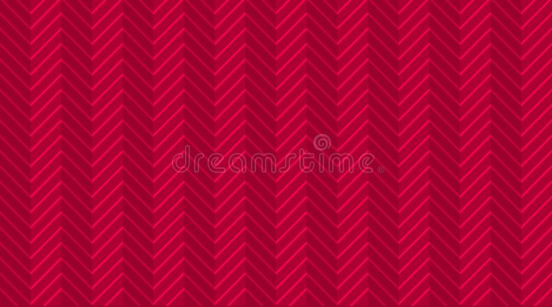 Deep red burgundy chevron zigzag seamless pattern with light festive lines. Halftone template wallpaper. royalty free illustration