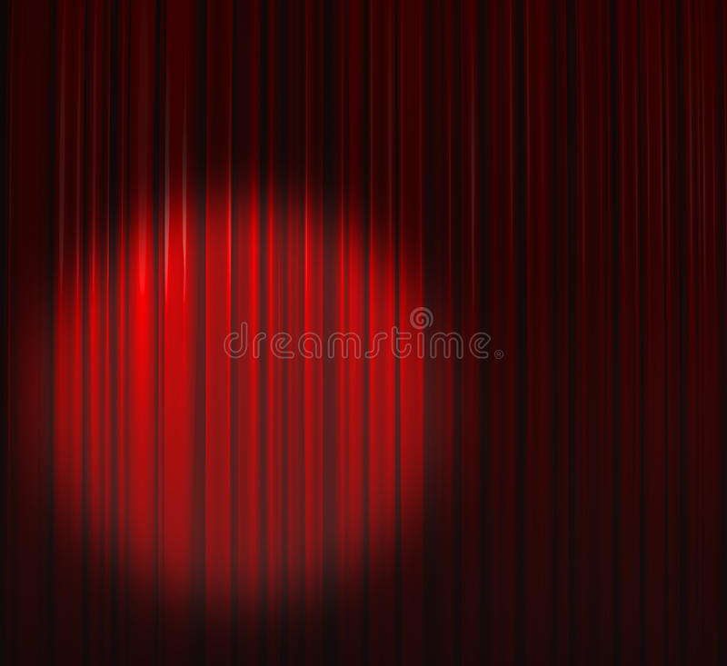 Deep Red Curtain With Spot Top Left royalty free stock images