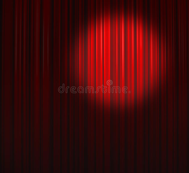 Free Deep Red Curtain With Small Spot Top Right Stock Image - 10892091