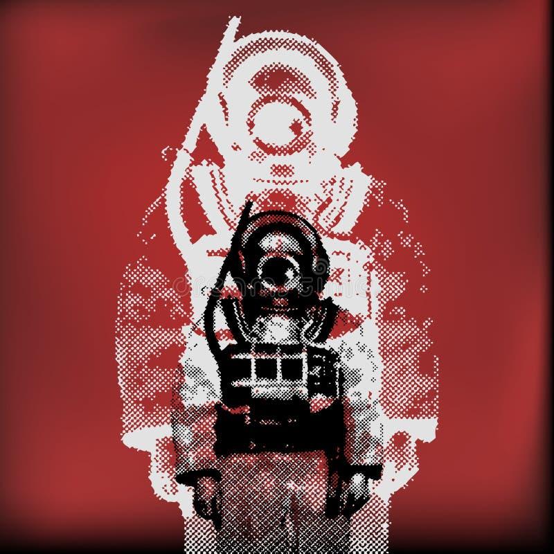 Download Deep Sea Diver stock vector. Image of helmet, suit, costume - 15257460