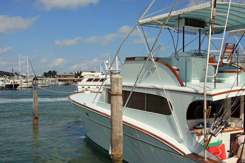 Download Deep Sea Fishing Boat At The Dock Stock Photo - Image: 5437546