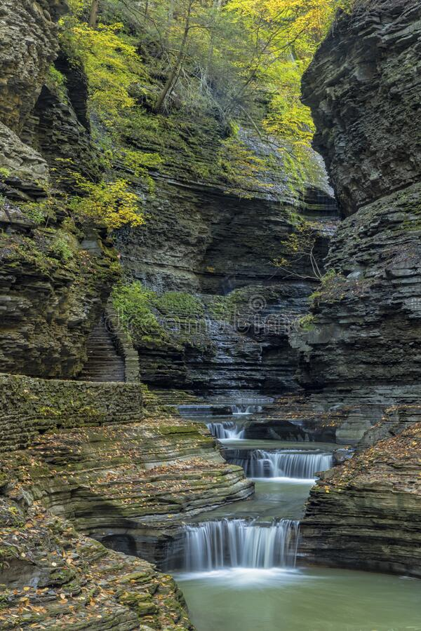 Deep Shale Gorge in Watkins Glen royalty-vrije stock afbeeldingen