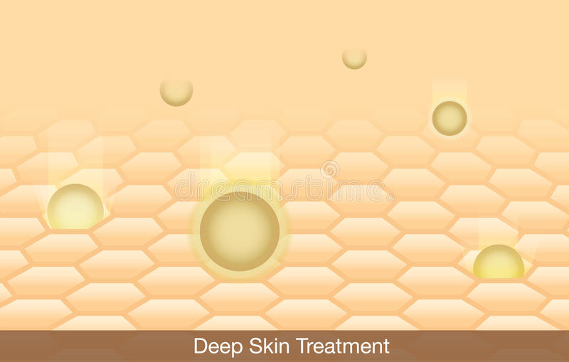 Deep Skin Treatment vector illustration