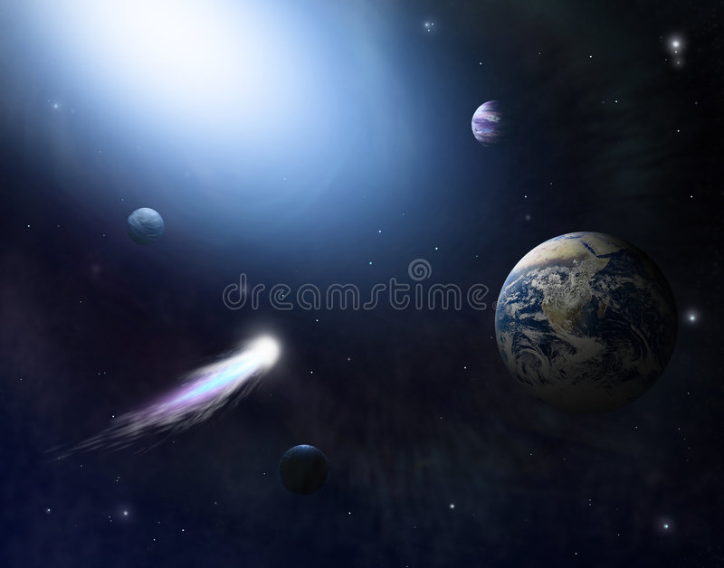 Download Deep Space 2 stock illustration. Illustration of astronomy - 7760205
