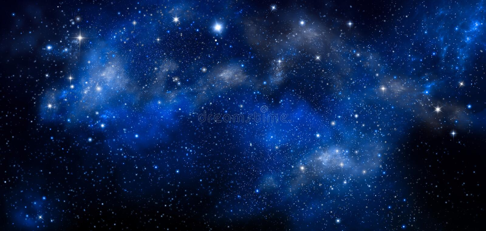 Deep space, abstract blue background royalty free stock image
