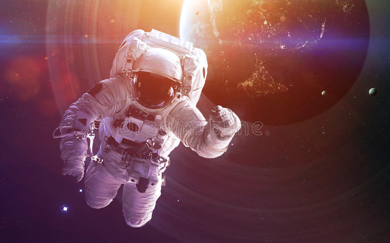 Deep space art. Awesome for wallpaper and print. Elements of this image furnished by NASA royalty free illustration