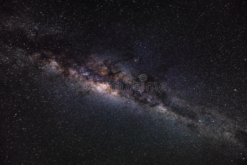 Deep space background with stardust and shining star. Milky way. Cosmic background royalty free stock images