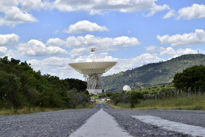 Deep space communications complex. In Madrid royalty free stock images