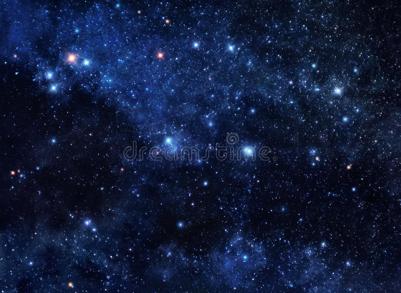 Deep space gems stock image