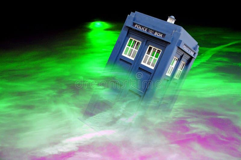 Deep space maelstrom tardis stock photo