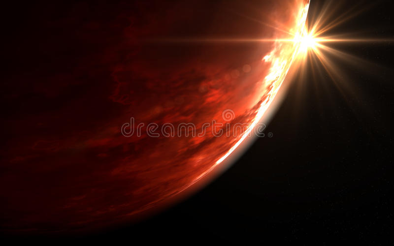 Download Deep space - Mars stock illustration. Image of orbit - 17397145