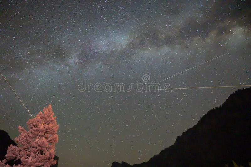 Deep space and milky way night sky royalty free stock images