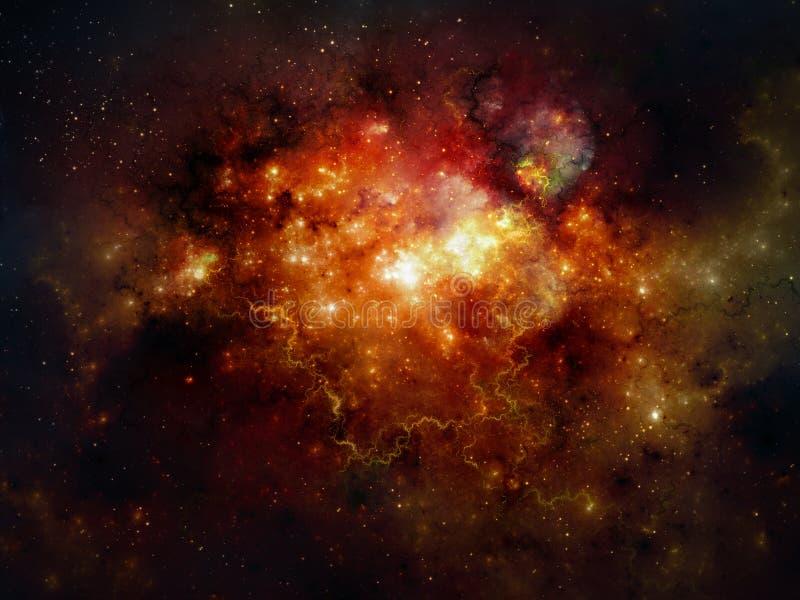 Deep space nebula. An illustration of space nebula stock illustration