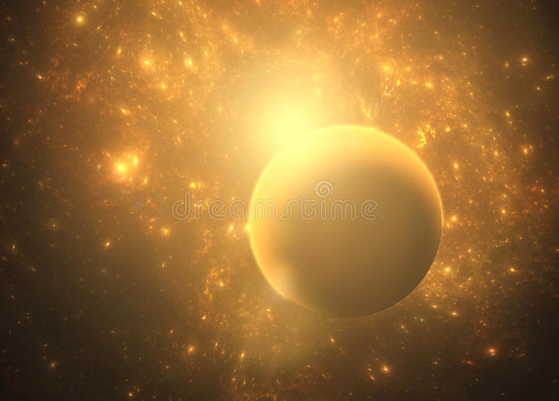 Deep space nebula with planets. Deep space nebula with with planets and stars royalty free stock photos
