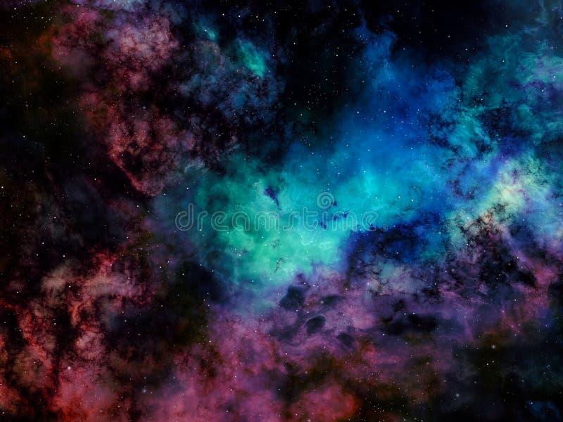 Deep space nebula with stars royalty free illustration