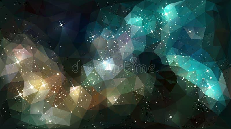 Deep space nebula stock illustration