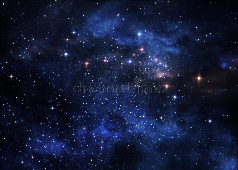 Deep space nebulae stock images
