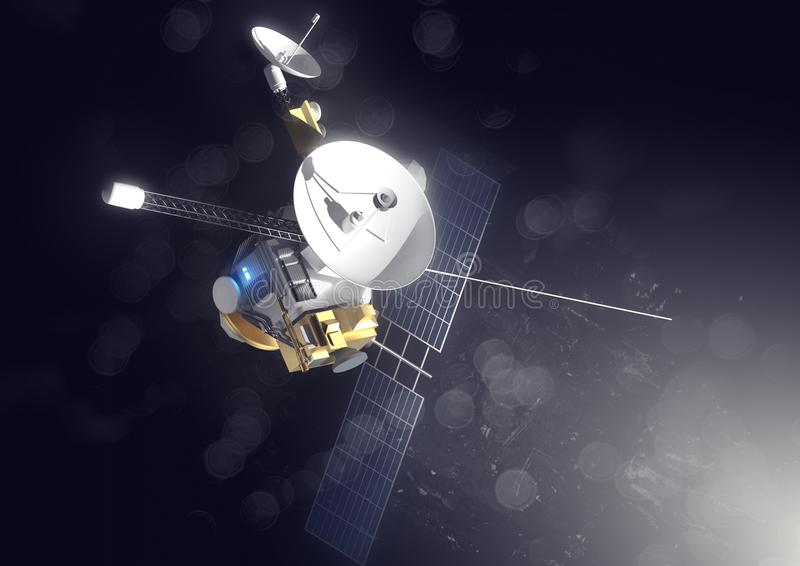 Space Probe in Deep Space vector illustration