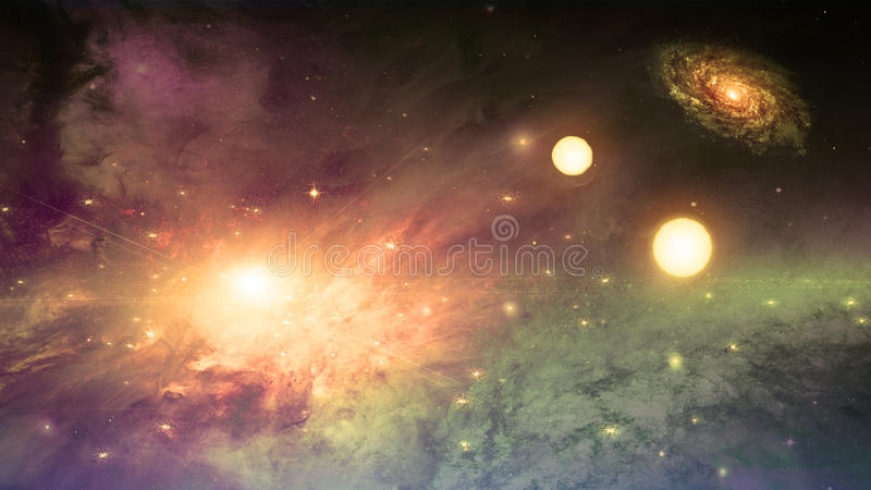 Deep space scene royalty free illustration