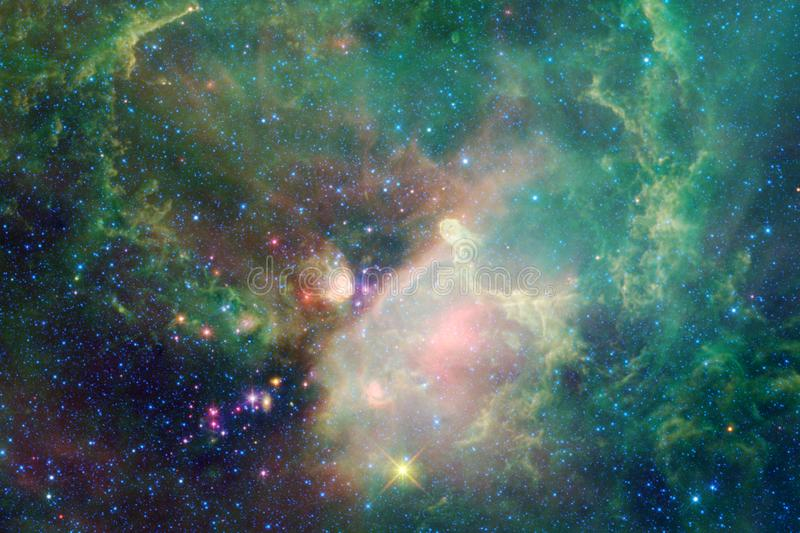 Deep space. Science fiction fantasy in high resolution ideal for wallpaper. Elements of this image furnished by NASA royalty free stock photos