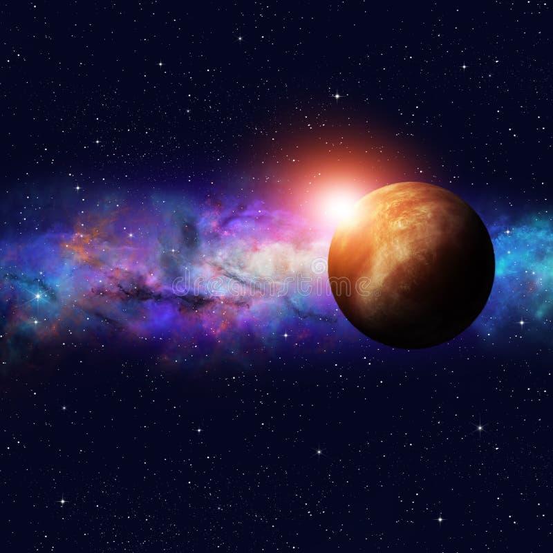 Deep Space Starfield stock illustration